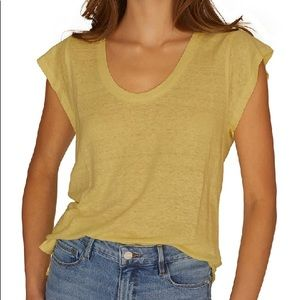 NWT! Sanctuary Ruby Scoop Neck Linen Tee Small